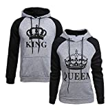 King und Queen - Pärchenpullover Set