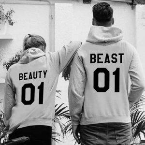 Beauty und Beast – Pärchen Pullover